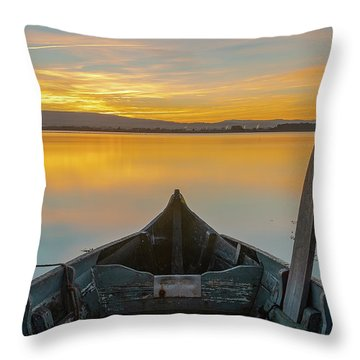 Throw Pillow featuring the photograph Half A Boat by Bruno Rosa