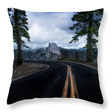 Half Dome In Yosemite National Park Throw Pillow