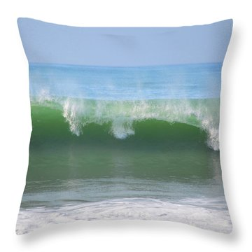 Throw Pillow featuring the photograph Half Monn Breaker by Mark Shoolery
