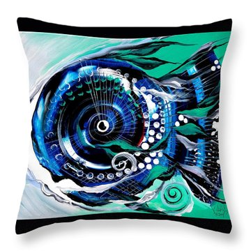 Half-smile, Break The Ice Fish Throw Pillow