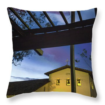 Half Staff At The Slo Mission Throw Pillow