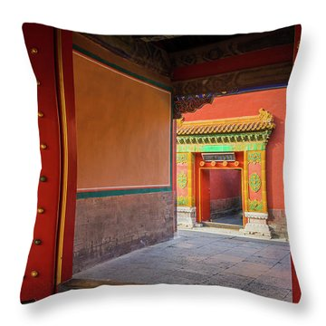 Hall Of Earthly Tranquility Throw Pillow