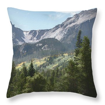 Hallett Peak Colorado Throw Pillow