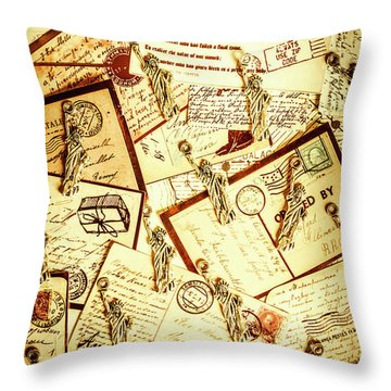 Hallmarks Of Travelling Old Throw Pillow