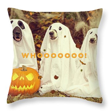 Halloween Hounds Throw Pillow