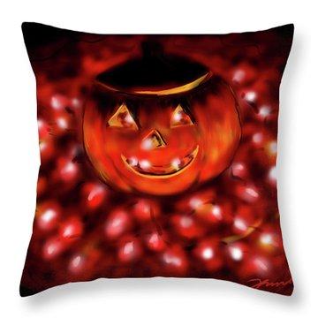 Halloween Lights Throw Pillow