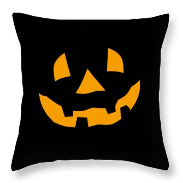 Halloween Pumpkin Tee Shirt Throw Pillow