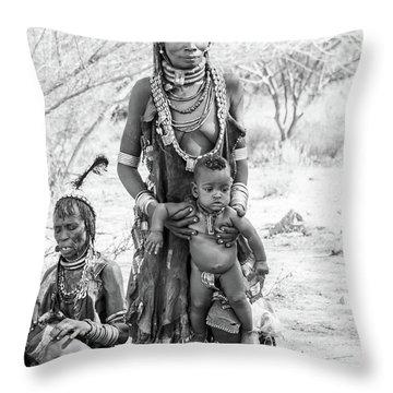 Hammer Women And Child Throw Pillow