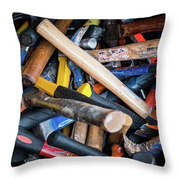 Throw Pillow featuring the photograph Hammers by Jeff Phillippi