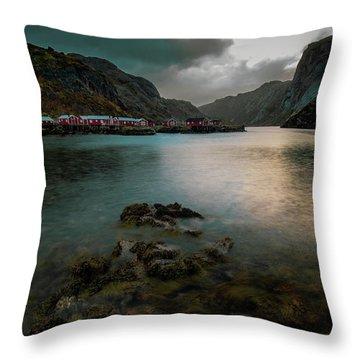 Hamnoy, Lofoten Islands Throw Pillow