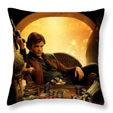 Han Solo A Star Wars Story Throw Pillow
