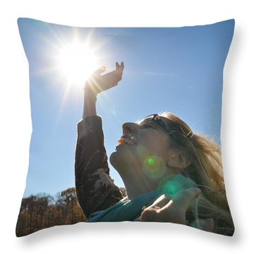 Throw Pillow featuring the photograph Handful Of Sunshine by Carl Young