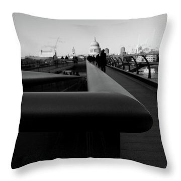 Throw Pillow featuring the photograph Handrail by Edward Lee