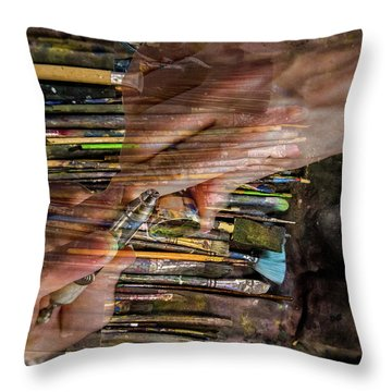 Handy Tools Throw Pillow