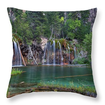 Throw Pillow featuring the photograph Hanging Lake Colorado by Nathan Bush
