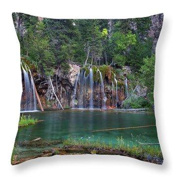 Hanging Lake Colorado Throw Pillow
