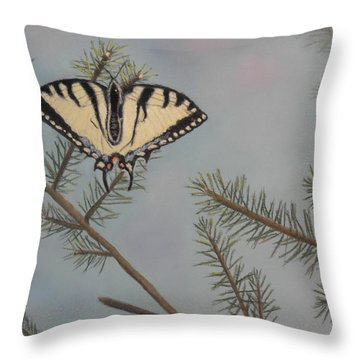 Hanging On To Summer Throw Pillow