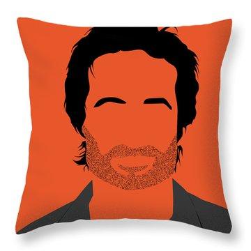 Hank Portrait Throw Pillow