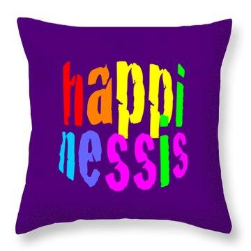 Happiness 2 Pillow Throw Pillow