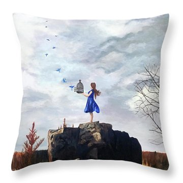 Happiness Released Throw Pillow