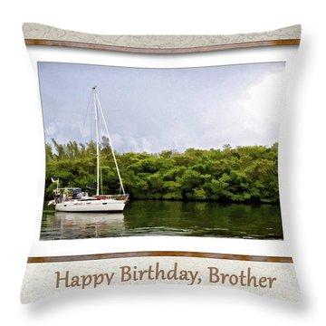 Happy Birthday, Brother Throw Pillow