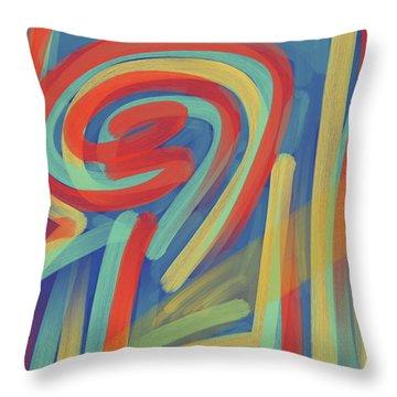 Happy Cyclops Throw Pillow