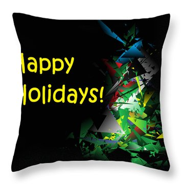 Happy Holidays - 2018-1 Throw Pillow