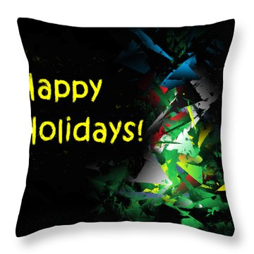 Happy Holidays - 2018-7 Throw Pillow