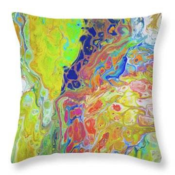 Happy In Hawaii Throw Pillow