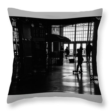 Throw Pillow featuring the photograph Happy Kid by Steve Stanger