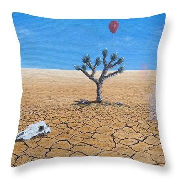 Throw Pillow featuring the painting Happy Little Tree by Kevin Daly