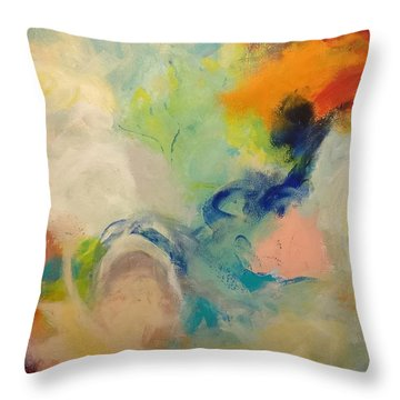 Happy Motions Throw Pillow