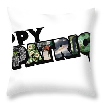 Happy St. Patrick's Day Big Letter Throw Pillow