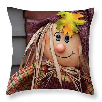 Throw Pillow featuring the photograph Happy Thanksgiving Doll by Tatiana Travelways