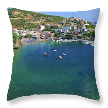 Harbor Of Bali Throw Pillow