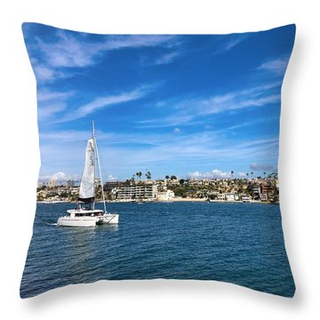 Throw Pillow featuring the photograph Harbor Sailing by Brian Eberly