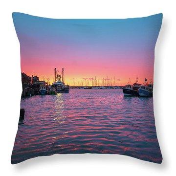 Harbour Lights Throw Pillow