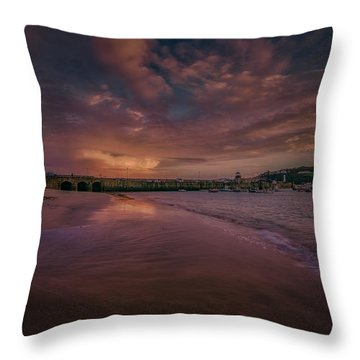 Harbour Sunset - St Ives Cornwall Throw Pillow