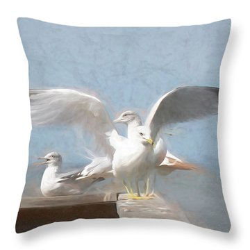 Harbour Watch Throw Pillow