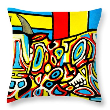 Haring's Cow Throw Pillow