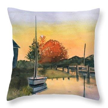 Harthaven Harbor, Mv Throw Pillow