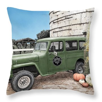 Harvest At Magnolia Throw Pillow