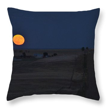 Throw Pillow featuring the photograph Harvest Moon 2 by Carl Young
