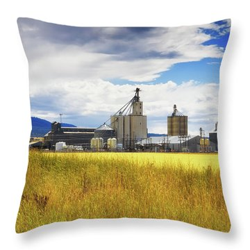 Throw Pillow featuring the photograph Harvest Time In Idaho 2 by Tatiana Travelways