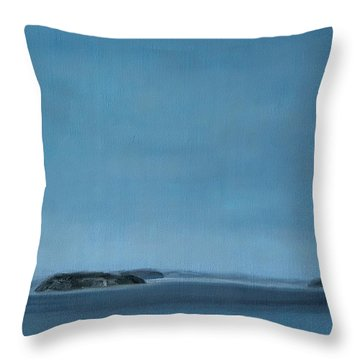 Hat Island View From Harborview Park Throw Pillow