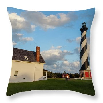 Hatteras Lighthouse No. 2 Throw Pillow