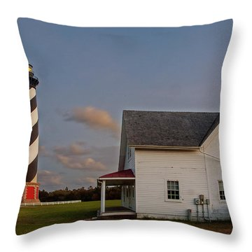 Hatteras Lighthouse No. 3 Throw Pillow