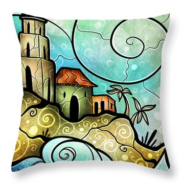 Havana Bay Throw Pillow