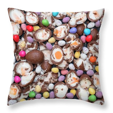 Throw Pillow featuring the photograph Have A Smashing Easter. by Tim Gainey