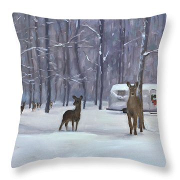 Have Yourself A Shiny Little Christmas Throw Pillow
